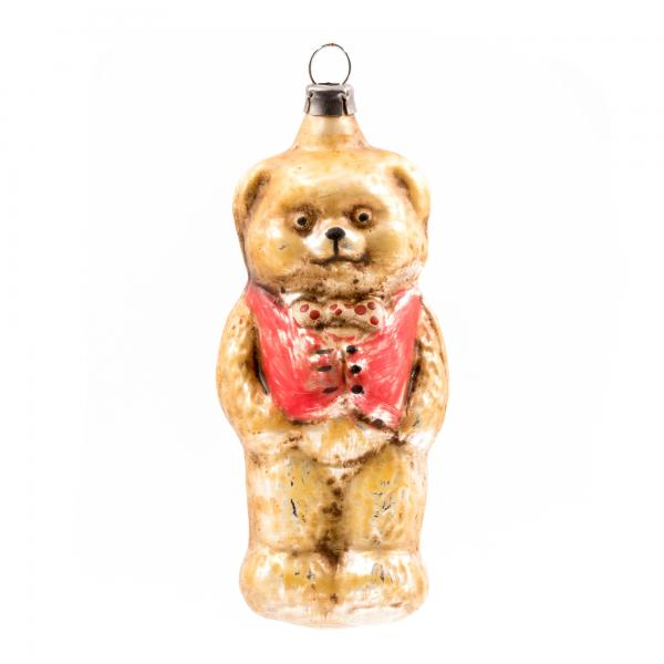"Glass ornament ""Bear with vest"""