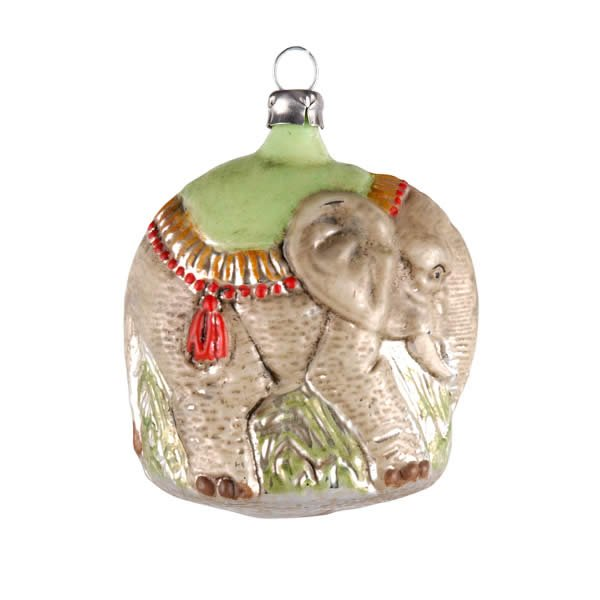 "Glass ornament ""Elephant"""