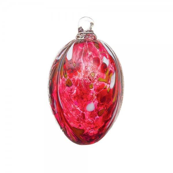 Handmade Easter egg (glass), rubin red, 10cm