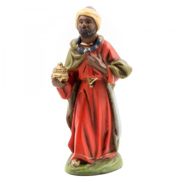 König schwarz (Caspar), zu 10cm Krippenfiguren - Original MAROLIN® - Krippenfigur für Ihre Weihnachtskrippe - Made in Germany