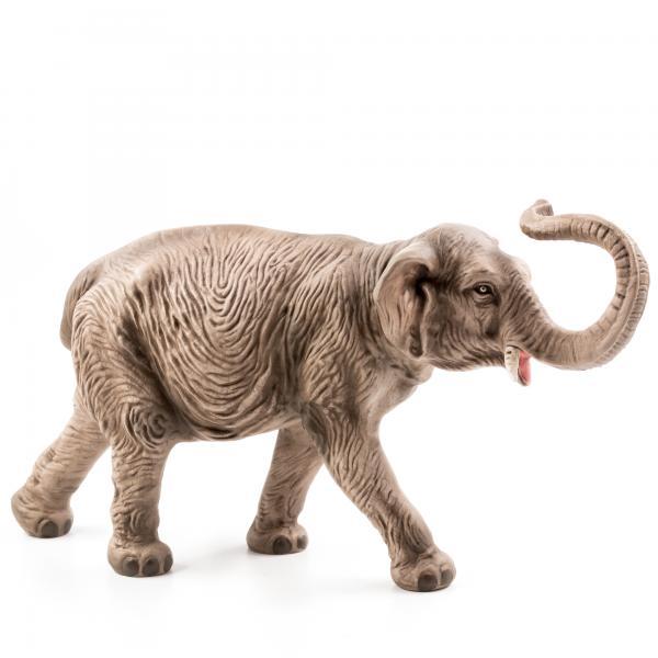 Elefant mit erhobenem Rüssel, zu 17cm Figuren