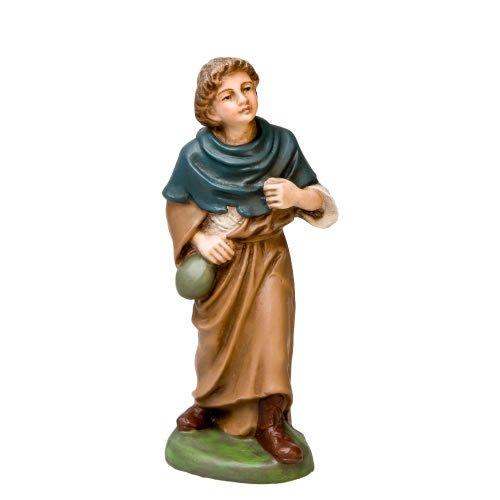 Hirte mit Beutel, zu 11cm Krippenfiguren - Original MAROLIN® - Krippenfigur für Ihre Weihnachtskrippe - Made in Germany