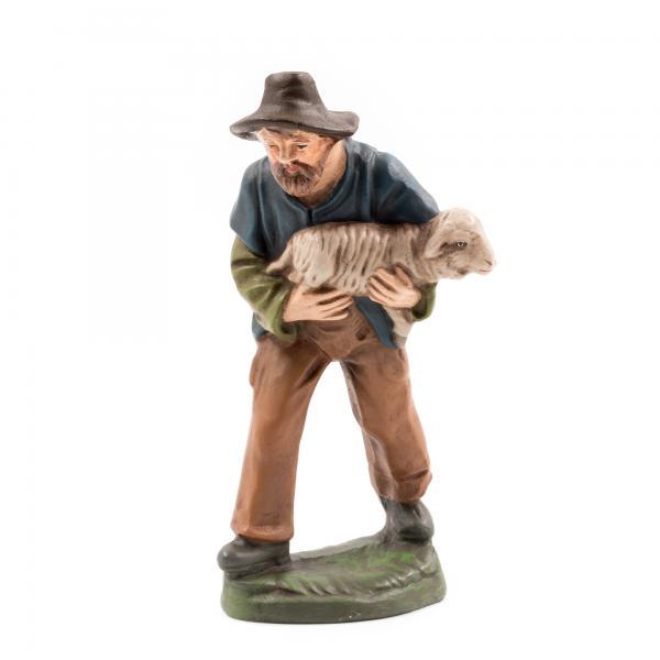 Hirte mit Schaf im Arm, zu 10cm Figuren