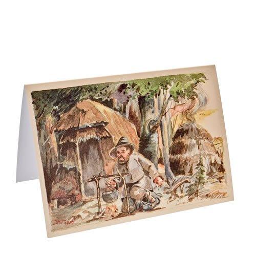 """Klappkarte """"Köhler auf der Fellberghöhe"""" - ein Artikel aus der Serie  MAROLIN® - Karten - Made in Germany."""