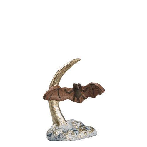 Fledermaus mit Mondsichel, zu 9 - 11cm Figuren - ein Artikel der Original MAROLIN® - Tiere als Dekoration für Ihre Weihnachtskrippe oder Weihnachtspyramide - Made in Germany