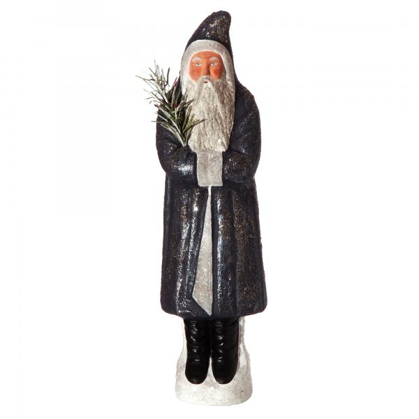 Santa with Jelly Bag Cap, dark blue, H=37cm