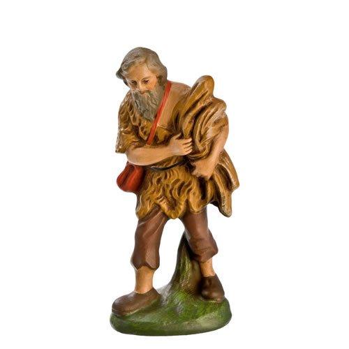 Hirte mit Strohgarbe, zu 11cm Krippenfiguren - Original MAROLIN® - Krippenfigur für Ihre Weihnachtskrippe - Made in Germany