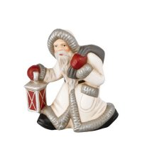 Little Santa with Lantern (antique white)