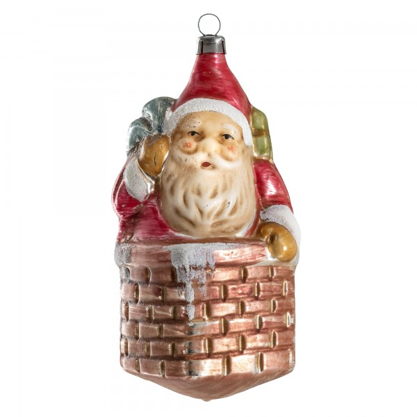 "Glass ornament ""Nicholas with sack in the chimney"""