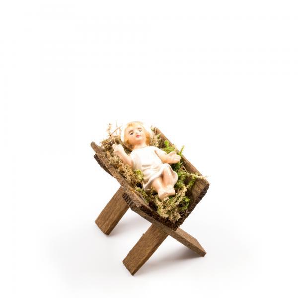 Holzkrippe mit Jesuskind, zu 10 - 11cm Krippenfiguren - Original MAROLIN® - Krippenfigur für Ihre Weihnachtskrippe - Made in Germany