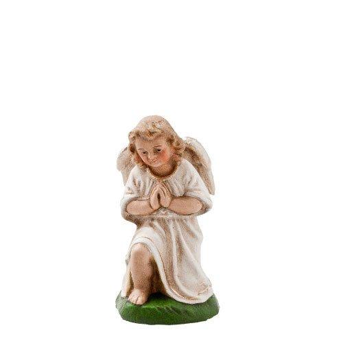 Kniender Engel in Antikweiß, zu 10 - 11cm Krippenfiguren - Original MAROLIN® - Engel für Ihre Weihnachtskrippe - Made in Germany