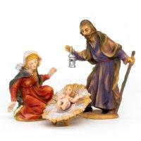 Heilige Familie, 4-teil. Set, zu 9cm Fig. (Kunststoff)