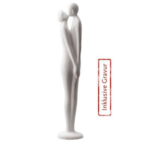 """""""Der Kuss"""" (mattweiß) limitierte Auflage - ein Artikel aus der Serie MAROLIN® - Sammlerstücke - Made in Germany"""