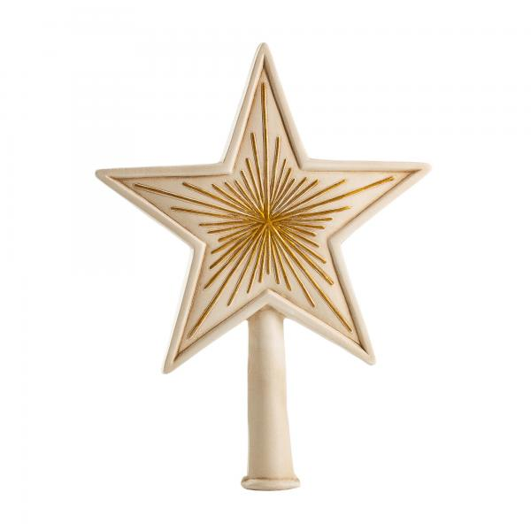 Tree topper Large Star (antique white)