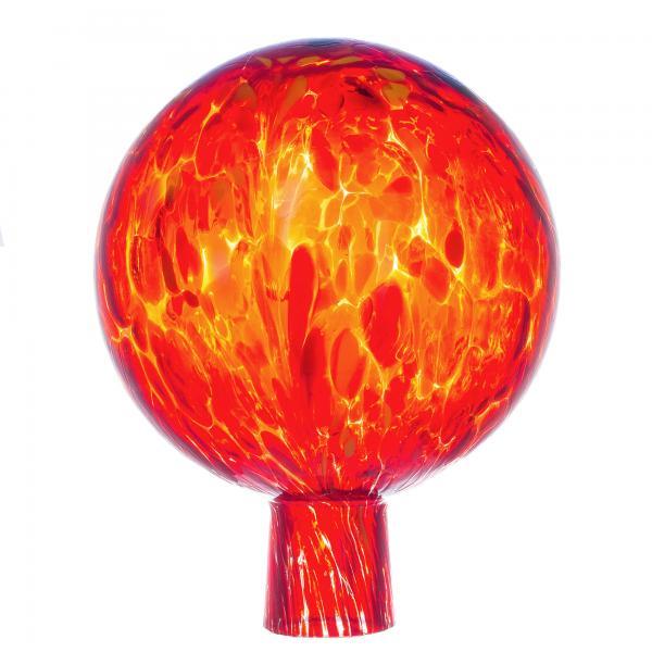 Rosenkugel für den Garten/Gartenkugel (15cm Durchmesser | orange)