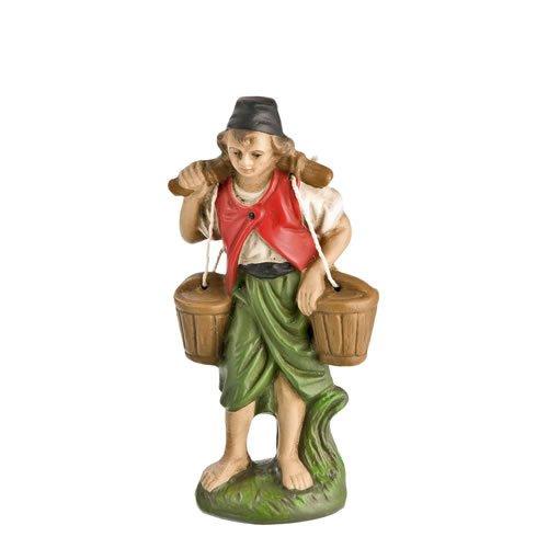 Wasserträger mit Eimer, zu 10cm Krippenfiguren - Original MAROLIN® - Krippenfigur für Ihre Weihnachtskrippe - Made in Germany