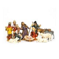 Krippenfiguren Set 12 Figuren, zu 9cm Fig. (Kunststoff)