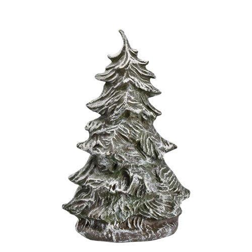 Tannenbusch groß, verschneit, zu 9 - 11cm Figuren